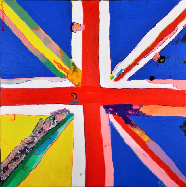 Kloot Per Wez, Brexit, acryl op doek, 60x60