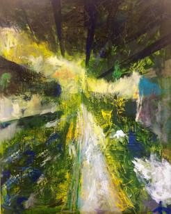 An Craps, Street view VII,  oliepastel, olieverf, linnen, 80 x 100