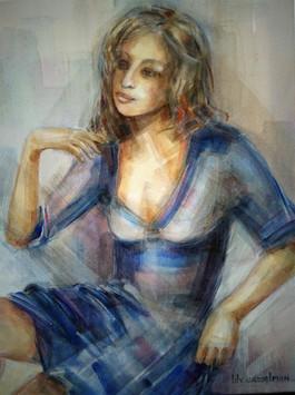 Lily Casselman, z.t., acryl op doek, 40 x 50