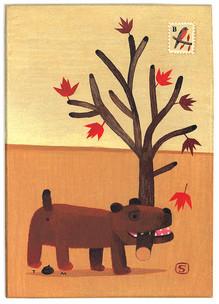 Tom Schamp, z.t., acryl op houten paneel, 16x22