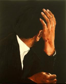 Marianne De Roo, untitled, Francisco, olie op doek, 40x50