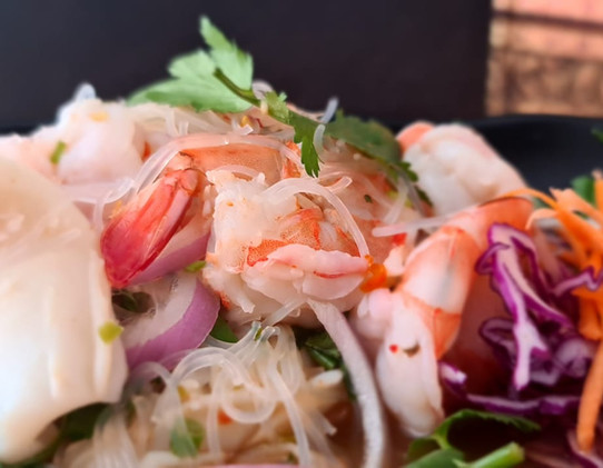 Spicy Glass Noodle & Mixed Seafood Salad