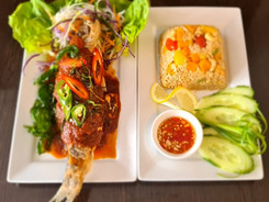 Grilled Seabass and Exotic Fried Rice