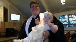 Pastor Sara and zym baptism