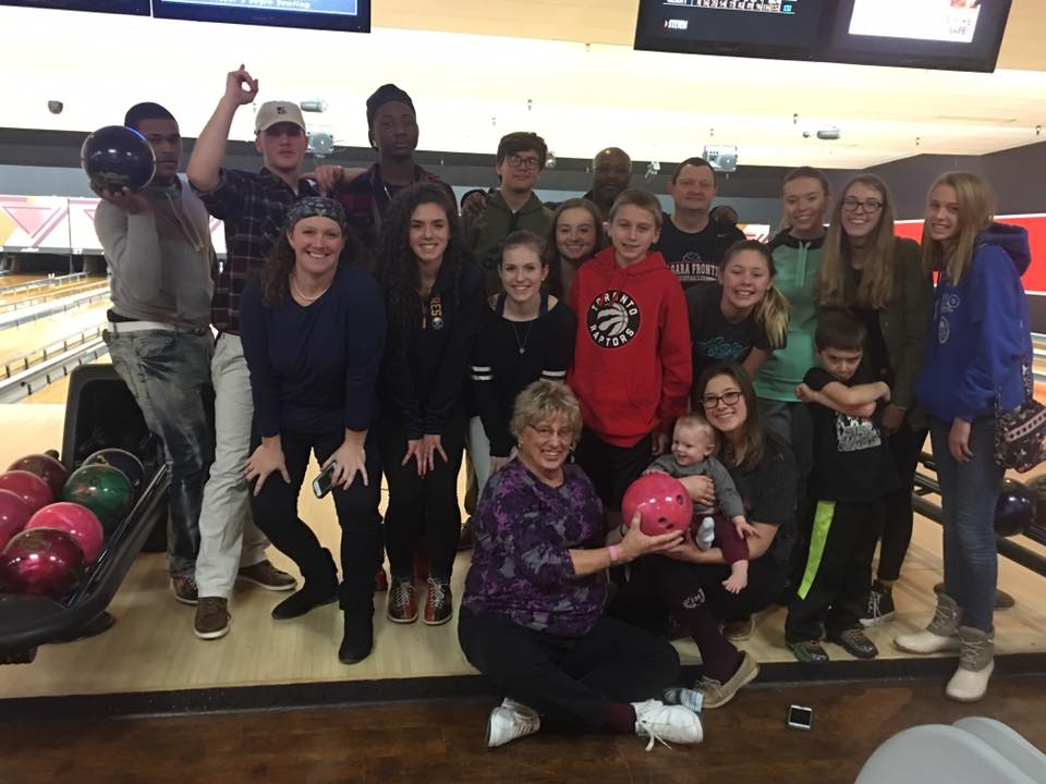 youth group bowling