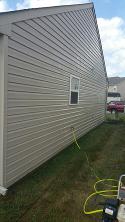 power washed siding