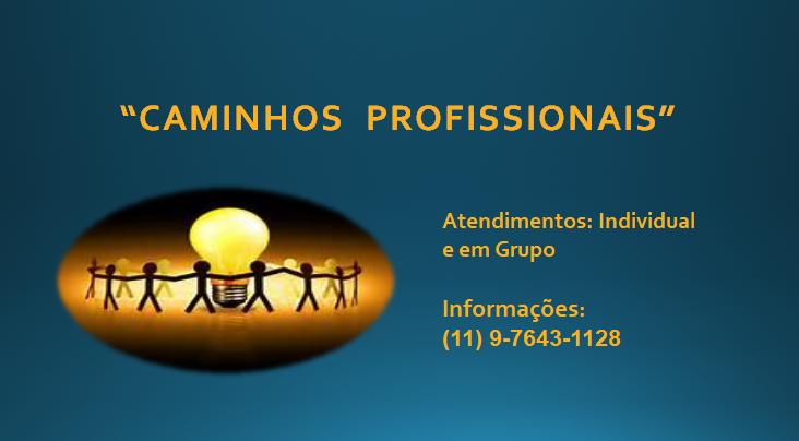CAMINHOS PROFISSIONAIS