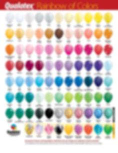 Qualatex Latex Balloon Colors