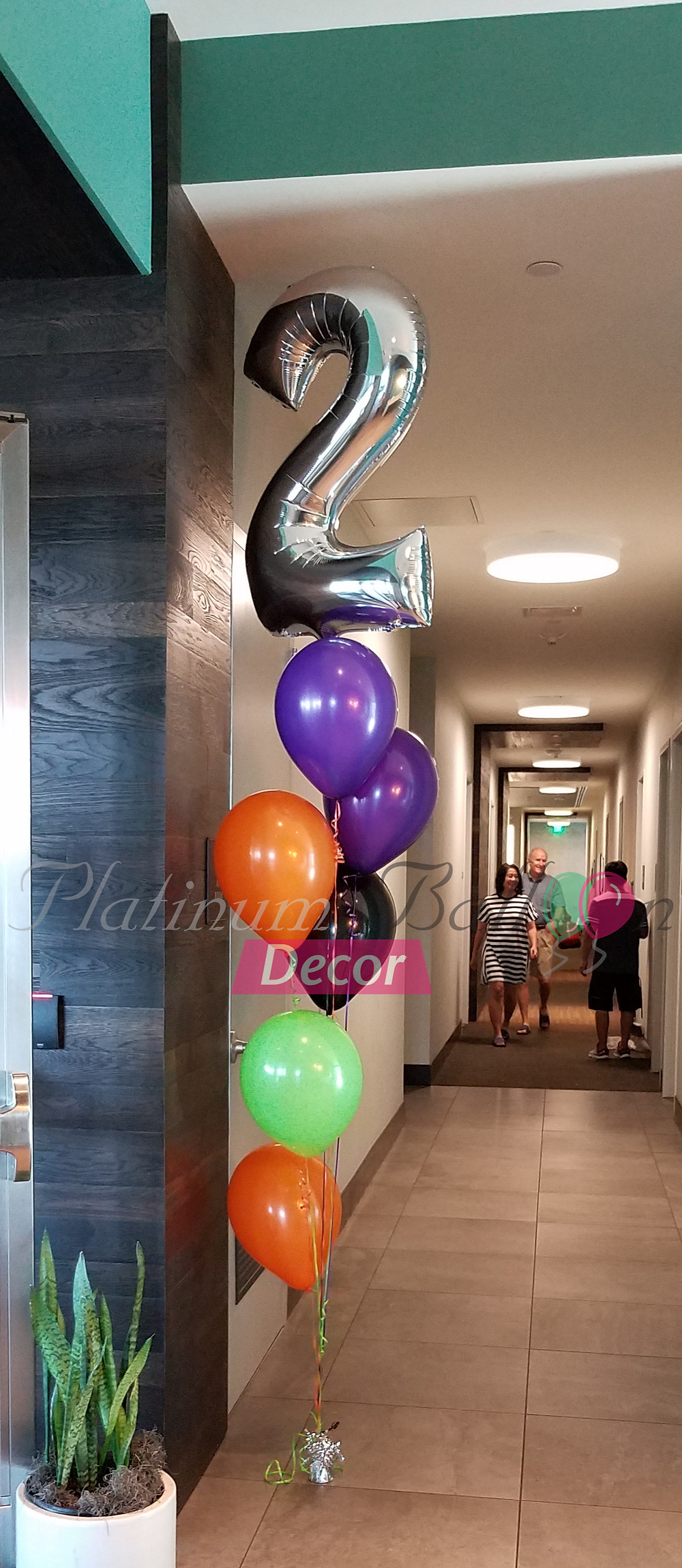 7 Balloon Floor Bouquet