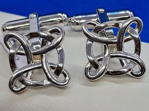 Silver Celtic Style Cufflinks