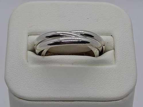 Silver Russian wedding ring