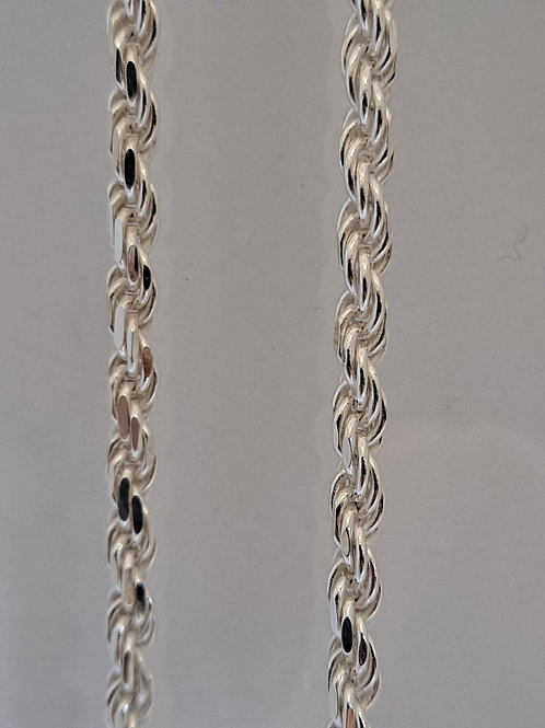 "Silver 16"" Rope chain"