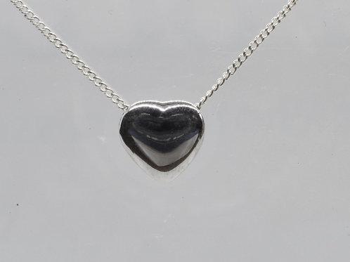 Silver heart pendant & chain