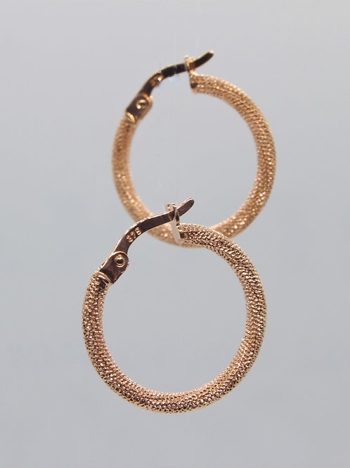 * 9ct rose gold Hoops