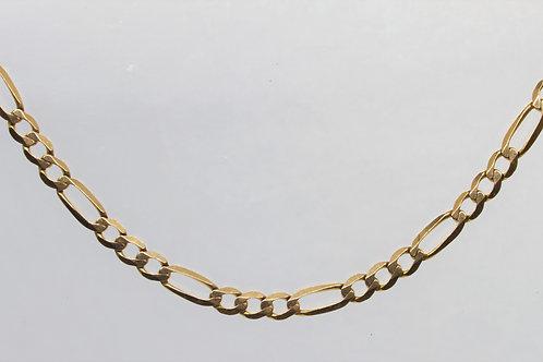 "* 18"" 9ct gold Figaro chain."