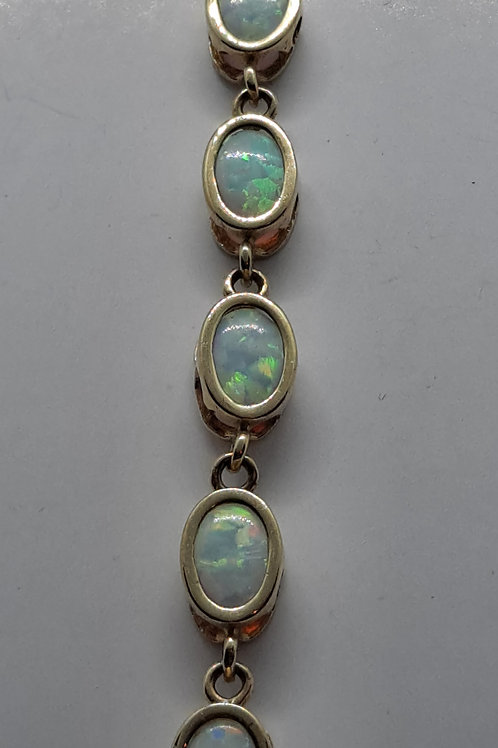 9ct created opal bracelet