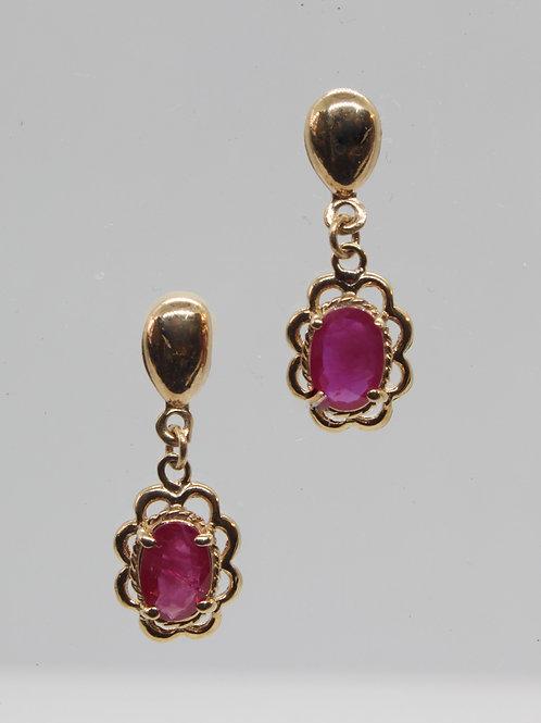 * 9ct gold Ruby Earrings