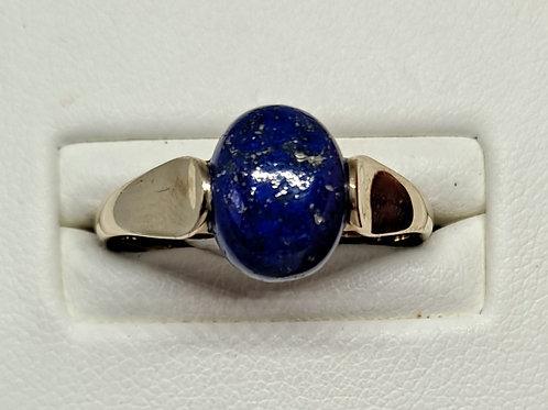 9ct gold lapis lazuli ring