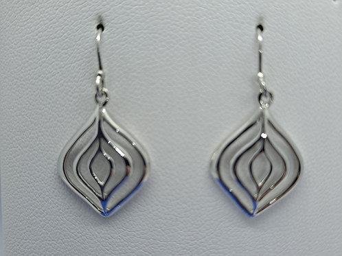 Silver fancy drop earrings