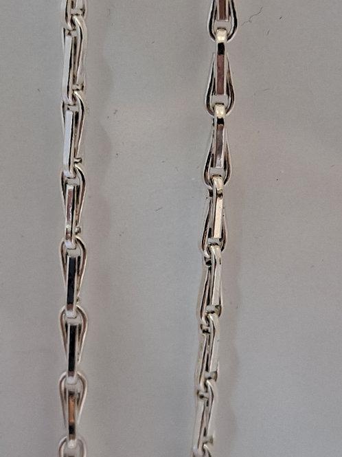 """Silver 18 """" Barleycorn chain"""