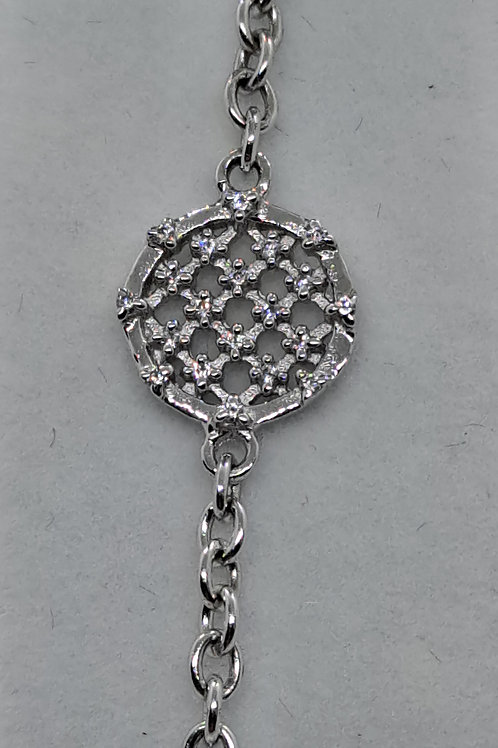 Silver stone ser bracelet