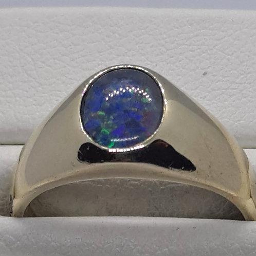 Opal signet ring