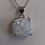 Thumbnail: Iridescent created white opal pendant and chain
