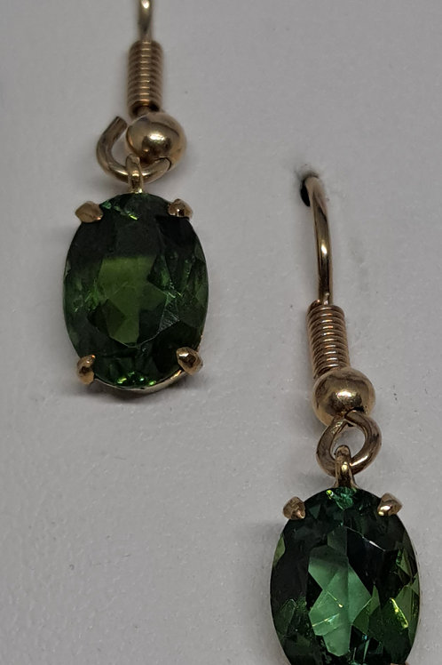 9ct Vivid Green Tourmaline earrings