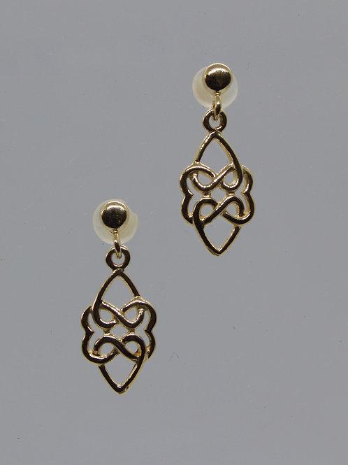 *9ct gold Celtic style earrings