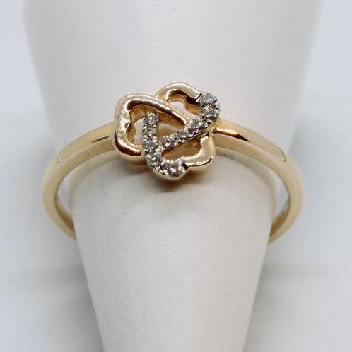 *9ct gold Diamond heart ring