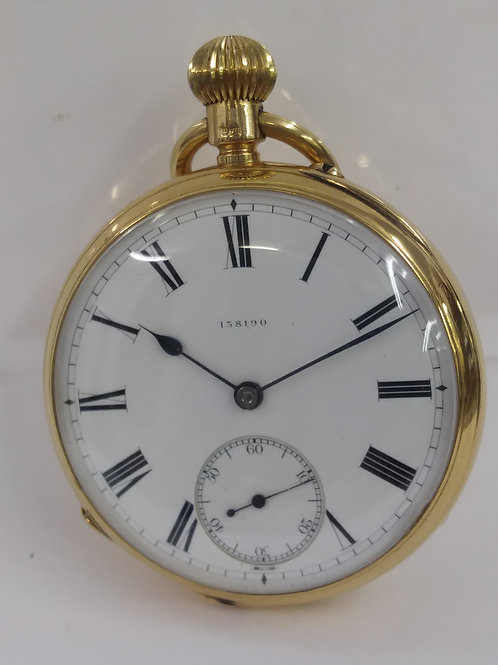 18 ct yellow gold Pocket Watch Pre-owned