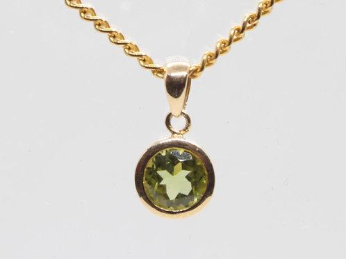 *9ct gold Peridot pendant only