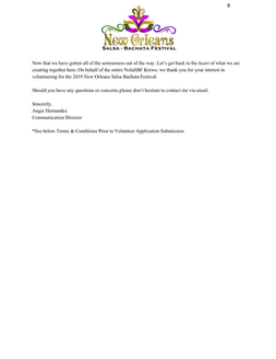 3. Volunteer Intro Letter & Hold Harmless