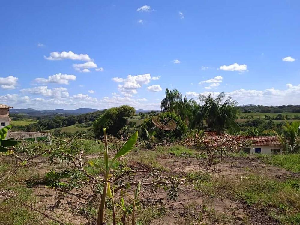 Foto da paisagem rural da comunidade do Aranha, em Brumadinho/MG.