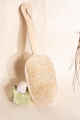 Escova de Banho com Bucha Vegetal