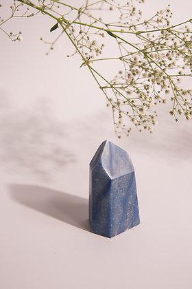 Ponta polida de quartzo Azul P