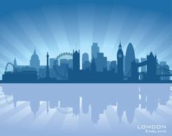 London, England Skyline graphic
