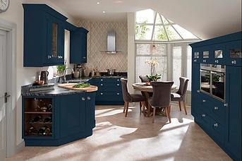 Milbourne Painted Hartforth Blue. MDF Do