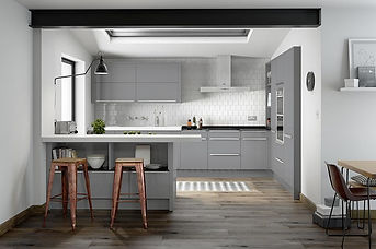 Porter Gloss Silver. Flat MDF Door with