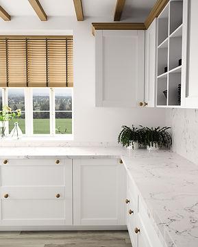 Silestone White Arabesque quartz worktop