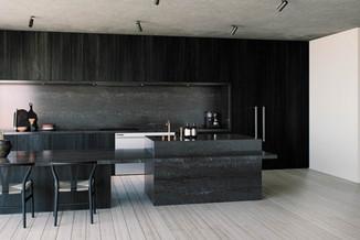Caesarstone Black Tempal Quartz worktop