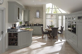 Milbourne Painted Partridge Grey. MDF Do