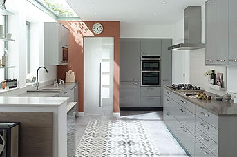 Porter Gloss Dove Grey. Flat MDF Door wi