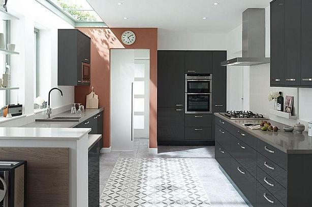 Contemporary Matt & Gloss Slab kitchen