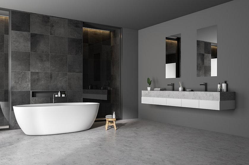 Bathroom marble tiles & worktop