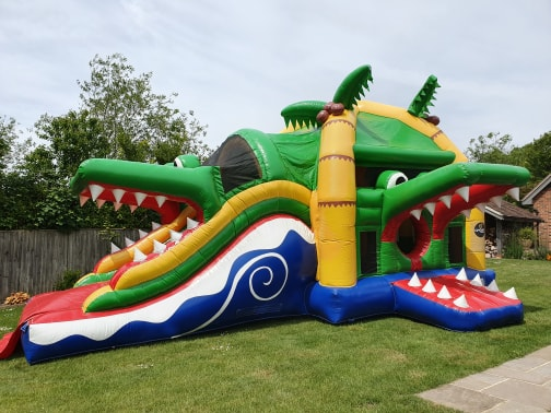Crocodile Multiplay Bouncer With Slide