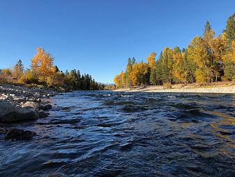 The Bitterroot River is a fishermans paradise.