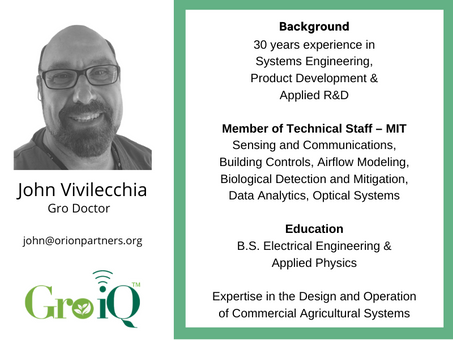 Gro iQ adds M.I.T. and Agriculture Veteran To Its Roster of Gro-Doctors