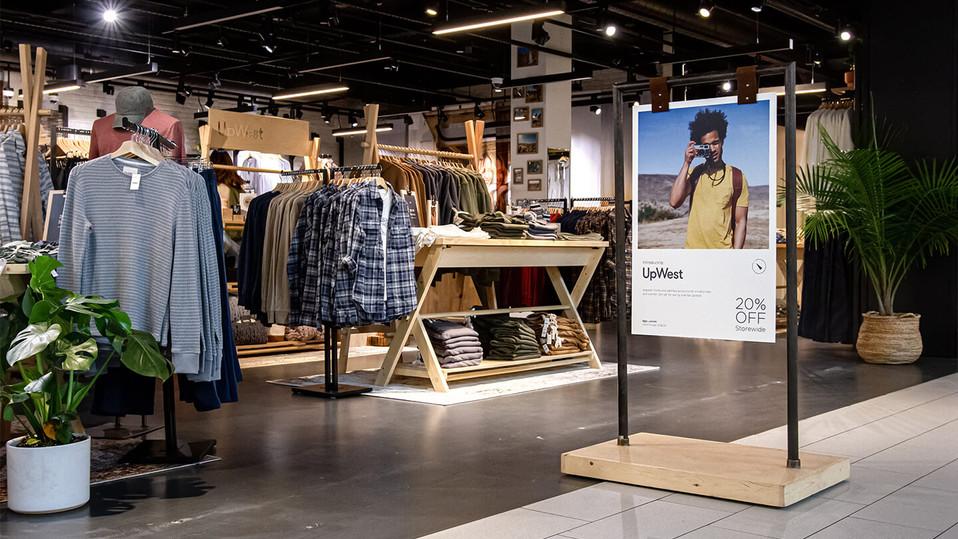 UpWest Pop-Up Retail Environment