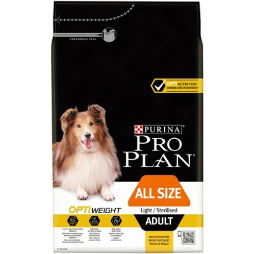 Purina Pro Plan лайт для взр. собак, склонных к избыточ. весу или стерил. курица